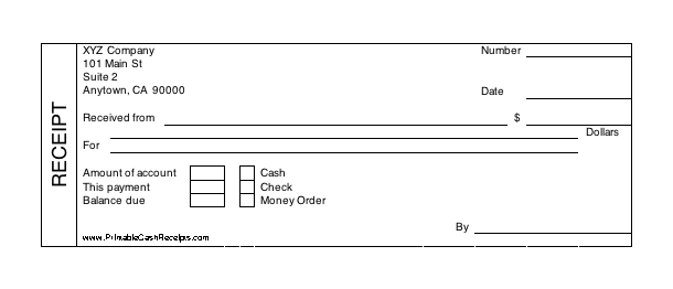 image about Printable Cash Receipt referred to as Printable Income Receipt